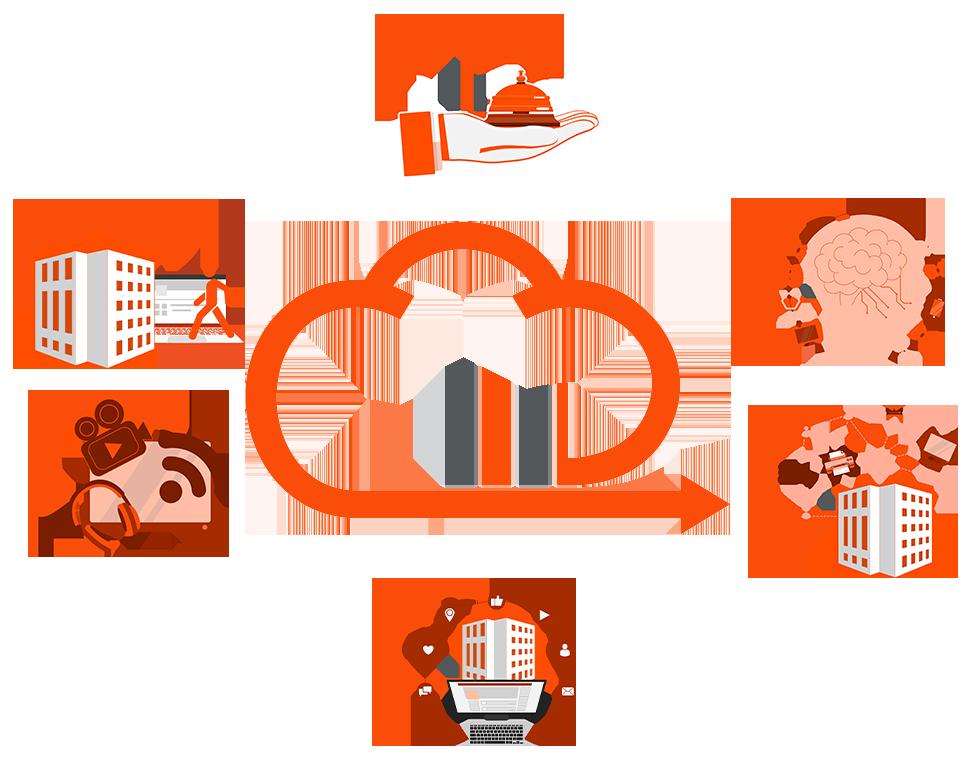 Go2neXt Digital Innovation - núvem com ícones